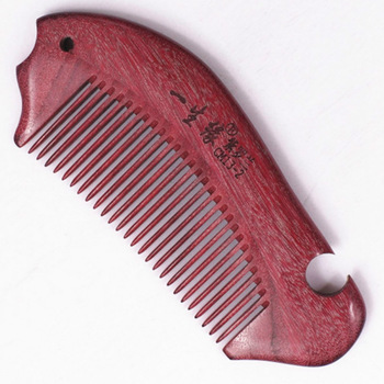 Violet small wooden comb twiddlefish straight comb anti-static portable birthday gifts lettering