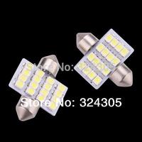wholesale 100X 31mm 16 LED SMD Festoon Dome Light lamp Car reading Bulbs pathway light door led bulb reading White blue