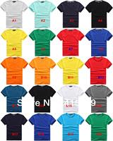New men's summer fresh Lycra Cotton round neck T-shirt  V-neck casual T-shirt