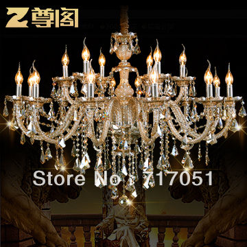 European crystal lamps [statue Court] luxury villa living room hall statue enjoy crystal chandeliers Z002 Jing Fei elegance(China (Mainland))