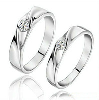Wholesale 100% Real Pure 925 Sterling Silver Elegant Bride Wedding Ring.TOP quality Fine Jewelry free shipping BR866