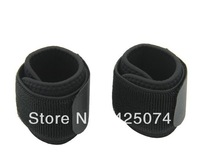 2PCS/Lot  Black Sports Velcro Wrist Elastic Brace Support Wrap Strap Band One Size