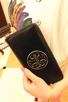 HOT sale  Women fashion wallet cross genuine leather wallet long design zipper wallet female