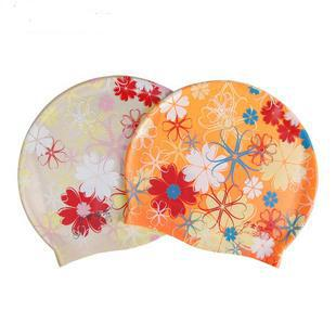 Bribed swimming cap waterproof quality silica gel swimming cap flower hat