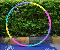 Lose Weight Sport Hula Hoop Hula Ring Good Fitness Equipment  Body Building Hoop PVC Material Three Kind Joint Free shipping
