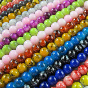 Free Shipping 20Pcs Round Chic Glass Spacer Bead Black White Red Blue Mixed 10mm For Jewelry Making Craft DIY(China (Mainland))