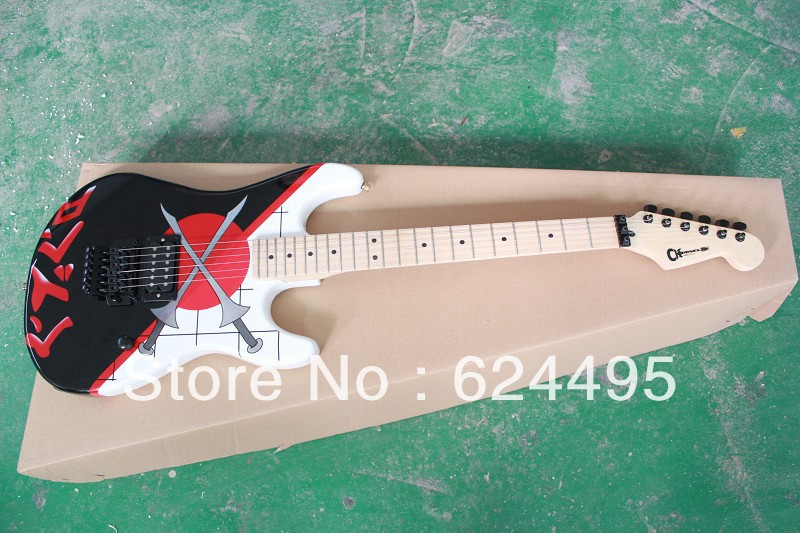 The new music of double rocking electric guitar color signature model(China (Mainland))