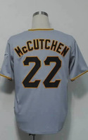 #22 Andrew McCutchen Men's Authentic Road Grey Cool Base Baseball Jersey