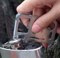 A1001 saber card multifunctional tool card camping card life-saving card with teeth 21g Small