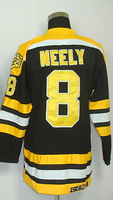 #8 Cam Neely Men's Classic Vintage Home Black Throwback Hockey Jersey