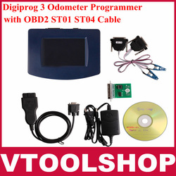 2013 Top-Rated Latest Version Digiprog 3 Odometer Programmer with OBD2 ST01 ST04 Cable DHL Free Shipping(China (Mainland))