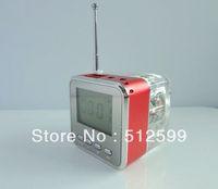 Promotion DHL Portable USB mini speaker NiZHi TT028 with FM radio LED Screen TT-028 for MP3 MP4 PC Cell phone 50pcs/lot