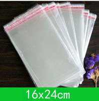 Free shipping 500pcs/lot New jewelry Bag (16x24cm) with self-adhesive seal clear opp bag /poly bag  for wholesale