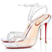 Women Fashion 2014 Transparent High Heels Sandals Brand Design Summer Wedding Shoes Spike Women Dress Party Pumps