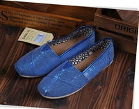 Free Shipping Latest New Low Carbon Unisex Fashion Leisure Flat Shoes Footwear Sequins Design Canvas Shoes With Packing