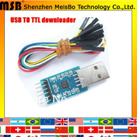 board CP2102 module USB to TTL High-speed STC Downloader with gift Hard Brush line free shipping