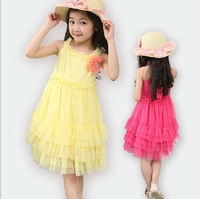 2013 summer Girls condole belt dress girl dress lovely kids clothing children tutu dress beauty gift