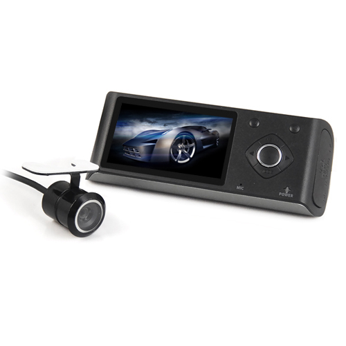 720P Dual lens 2.7inch LCD GPS car DVR camera recorder Video Dashboard vehicle Cam with H.264,Wide angle,G-sensor(China (Mainland))