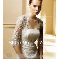 Half Sleeve 2013 Off Shoulder Appliques Lace Elow Length Wedding Accessories Bridal Shawl Wraps Bolero Party Prom Jackets Shawls