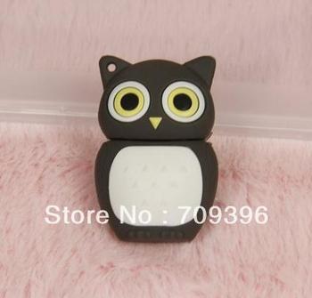 Novel Owl Shape Silicon USB Flash Pen Drive ,2GB /4GB/8GB/ 16GB/ 32GB Free Shipping,10pcs/lot