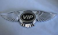 VIP Badge Emblem Eagle Wings Car Logo Sticker Front Hood Bonnet Free Shipping