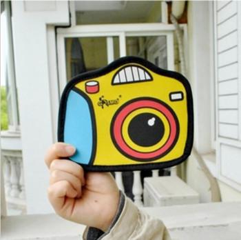 cute 3D comics cartoon camera wallet Three-dimensional quadratic element coin purse the small bag organizer women men wallets