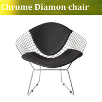 Free shipping Harry Diamond Leisure Chair Diamond Steel Wire Chair,Modern Wire Chair,Bertoia Diamond Chair cushion