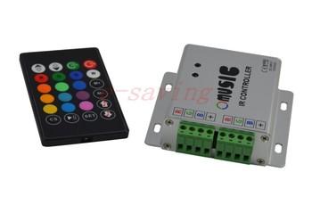 24keyIR Music Controller Aluminum Audio sound sensitive DC12/24V for RGB led strip light