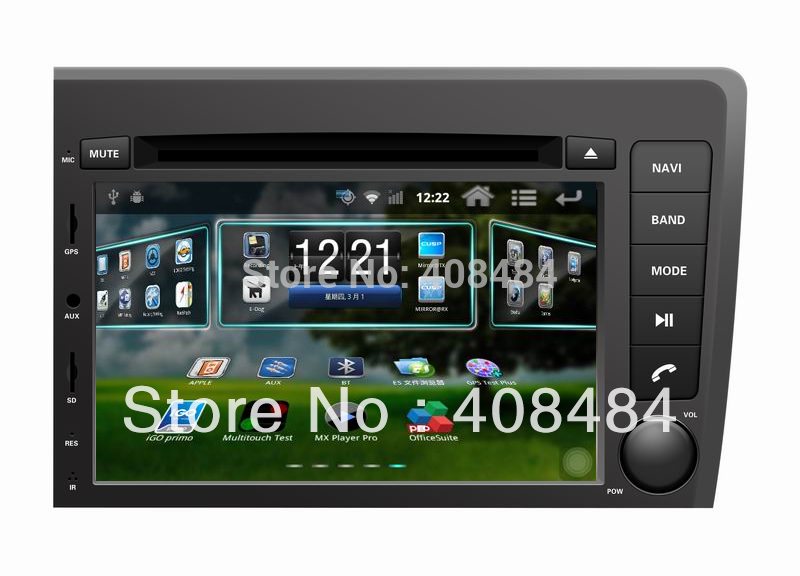 "7"" 2DIN Car DVD player with Android 2.3.4 system for VOLVO S60 / V70 with GPS for retail/pcs+free shipping(China (Mainland))"