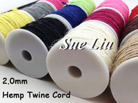 9pcs 2mm Assorted Color Hemp Rope Twine Cord Cordage, Eco Friendly Cords, Jewelry Cord (100M/110yds Spool)  NCH20