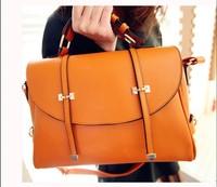 HOT !! 2014 new coming discount fashion vintage business briefcase women's handbag punk messenger bag casual post shoulder bag