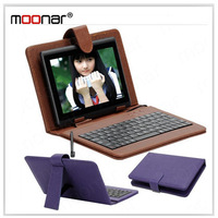 IN Stock  Mini USB Keyboard & Faux Leather Case For 7 inch Tablet PC with a Capacity Touch Pen DA0714