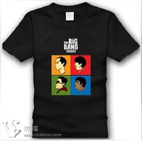 The Big Bang Theory TBBT Sheldon Cooper leonard Originality design GEEK Cartoon head Short sleeves 100% cotton T shirt