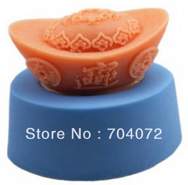 Grátis frete lingotes de prata 3D R738 resina macia sabão moldes DIY molde do bolo da lua molde para Jelly bolo artesanato molde cortador de biscoitos(China (Mainland))