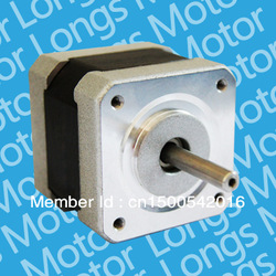 Popular item!! Longs-Motor Nema 17 Hybrid Stepping Motor with 0.9 degree Step Angle; 4 lead wires(China (Mainland))