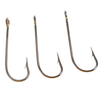 Free shipping 100pcs/pack Mustad Kirby Sea hooks Ref 2330 size 10 Carbon Steel fishing hooks Wholesale and Retail