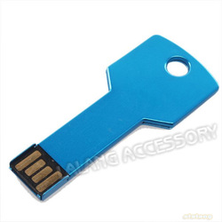 New 1pcs Blue Key Shape USB 2.0 Portable 4GB /8GB/16GB/32GB Flash Memory Stick Pen Drives Disk Free Shipping 750106(China (Mainland))