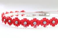 Flowers diamond waist elastic waist fashion belt for lady