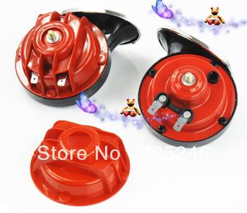 Free shipping!Loud 12V  Air Horn Snail Set Dual Two Twin Tone Trunk Car speaker air horn electric horn