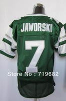 Free Shipping Ron Jaworski #7 Throwback Football Jersey,Embroidery and Sewing Logos,Size M--3XL,Accept Mix Order