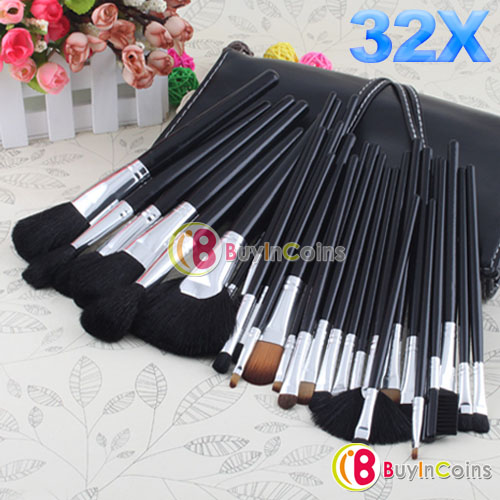 32 Pcs Professional Eyebrow Shadow Hair Makeup Cosmetic Brush Set Kit Case #2 [12045|01|01](China (Mainland))