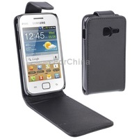 SALE Business Style 1pcs Free Shipping Vertical Flip Leather Case for Samsung Galaxy Ace Duos S6802, Black