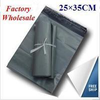 Factory Wholesale 25x35cm Self Adhesive Destructive Shipping Bags Courier Experss Plastic Mailing Bags 100pcs Gray JJ-017