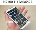 NEWEST!!! HK post free shipping original 1:1 n7100 phone MTK6577 dual core galaxy note 2 android 4.1 5.5 inch mobile phone(China (Mainland))