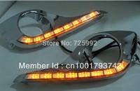 Excellent CAR-Specific LED DRL plating chrome for Toyota HIGHLANDER 2013, LED Daytime Running Light, Ultra-bright illumination