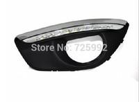free shipping,Excellent CAR-Specific Hyundai Santa Fe 2010-2013LED DRL,LED Daytime Running Light, Ultra-bright LED illumination