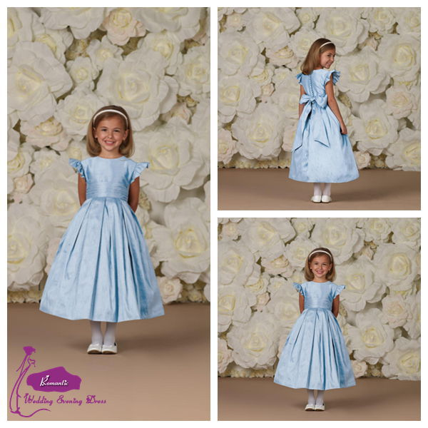 f9 Puffy Flower Girl Dress Kids Girls Evening Dress Flower Girl Dress Picture(China (Mainland))