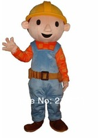 BOB THE BUILDER ADULT FANCY DRESS MASCOT COSTUME free shipping