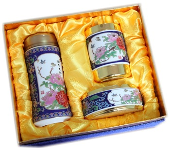 Cloisonne alloy vacuum cup pen ashtray set novelty birthday gift vip gift