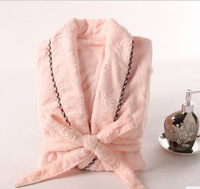 100% female cotton bathrobes soft and comfortable female bathrobe swlq3908